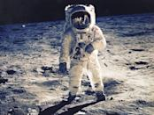 """<p>Four days after launching from Cape Kennedy in Florida, Neil Armstrong took """"one small step for a man, one giant leap for mankind"""" on July 20, 1969, and became the <a href=""""https://www.popularmechanics.com/space/moon-mars/g28350366/apollo-11-facts/"""" rel=""""nofollow noopener"""" target=""""_blank"""" data-ylk=""""slk:first human to walk on the moon"""" class=""""link rapid-noclick-resp"""">first human to walk on the moon</a> as part of the <a href=""""https://www.nasa.gov/mission_pages/apollo/missions/apollo11.html"""" rel=""""nofollow noopener"""" target=""""_blank"""" data-ylk=""""slk:Apollo 11"""" class=""""link rapid-noclick-resp"""">Apollo 11</a> mission. Less than 20 minutes later, Buzz Aldrin, who piloted the lunar module, joined his commander. The two explored the moon on foot for <a href=""""https://www.nasa.gov/audience/forstudents/k-4/stories/first-person-on-moon.html"""" rel=""""nofollow noopener"""" target=""""_blank"""" data-ylk=""""slk:three hours"""" class=""""link rapid-noclick-resp"""">three hours</a> while conducting experiments and collecting samples. After rejoining fellow astronaut Michael Collins, who also made the voyage, Armstrong and Aldrin returned to Earth on July 24.</p>"""