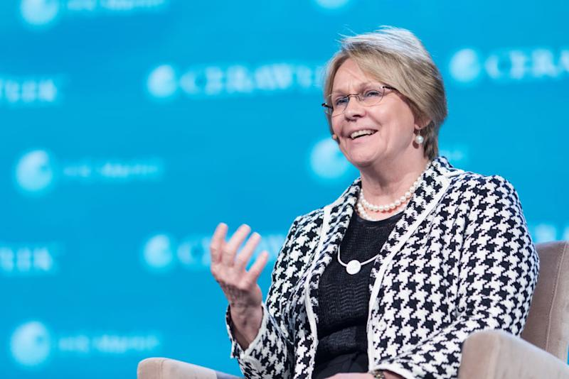 Vicki Hollub, president and chief executive officer of Occidental Petroleum, in 2017.