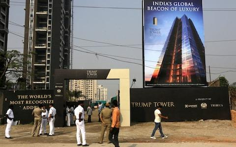 The 254 flats in Gurgaon, which is Trump's flagship project, are priced between £610,00 and £1.2 million - Credit: Bikas Das/AP