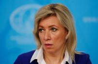 FILE PHOTO: Russia's Foreign Ministry spokeswoman Maria Zakharova attends the annual news conference of the acting Foreign Minister Sergei Lavrov in Moscow