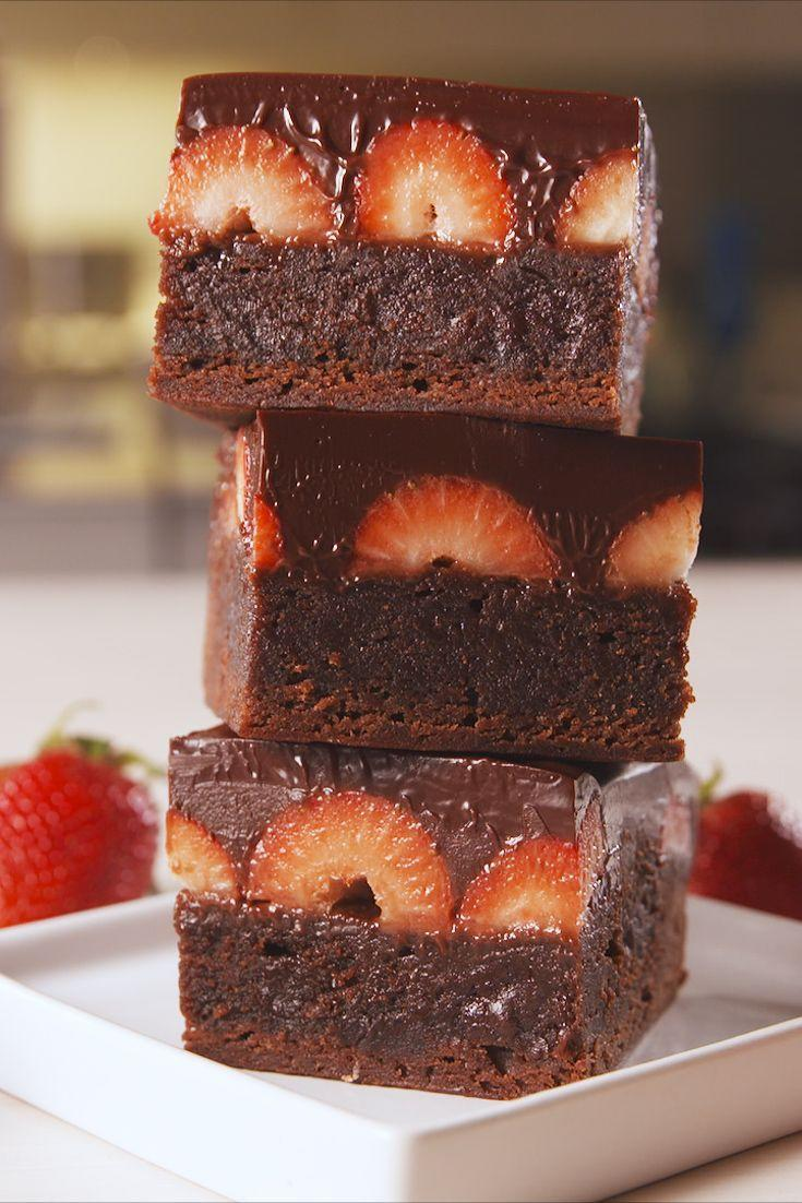 """<p>Love at first bite.</p><p>Get the recipe from <a href=""""https://www.delish.com/cooking/recipe-ideas/a19625389/chocolate-covered-strawberry-brownies-recipe/"""" rel=""""nofollow noopener"""" target=""""_blank"""" data-ylk=""""slk:Delish"""" class=""""link rapid-noclick-resp"""">Delish</a>. </p>"""