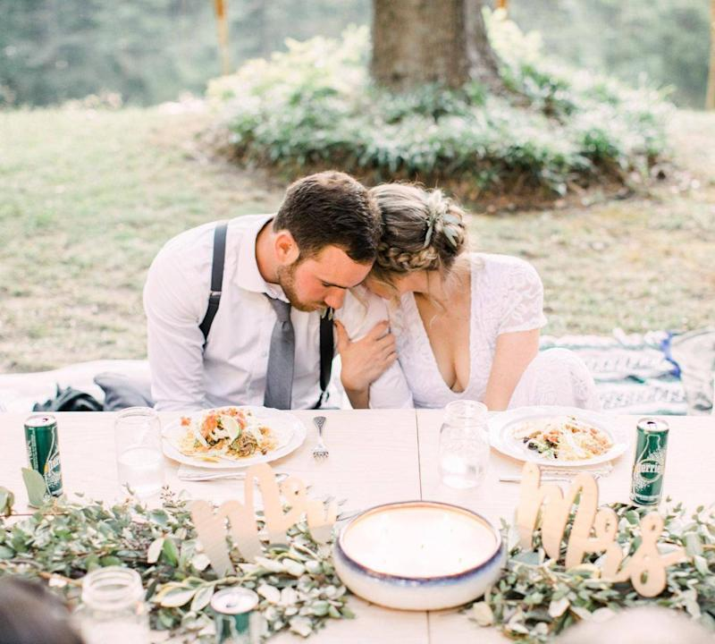 The couple's wedding looked more expensive than it was (Danielle Riley Photography)