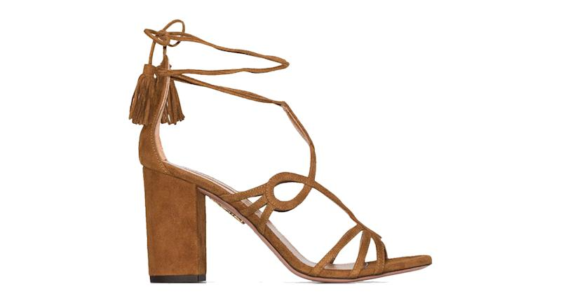 Aquazzura Gitana 90mm suede sandals