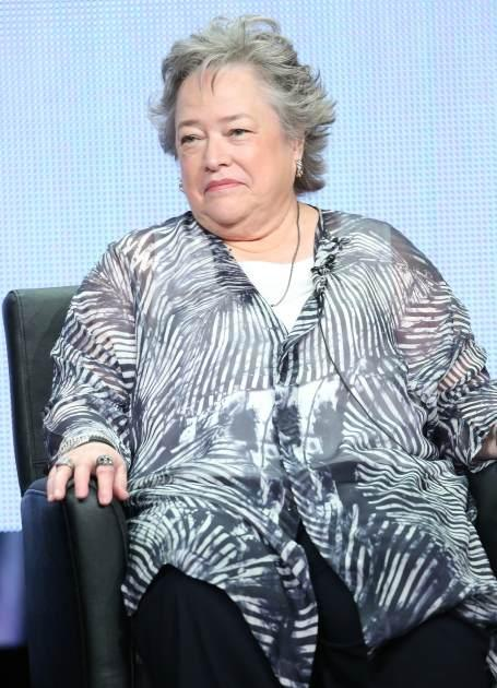 Kathy Bates speaks onstage during the 'American Horror Story: Coven' panel discussion at the FX portion of the 2013 Summer Television Critics Association tour - Day 10 at The Beverly Hilton Hotel on August 2, 2013 in Beverly Hills -- Getty Images