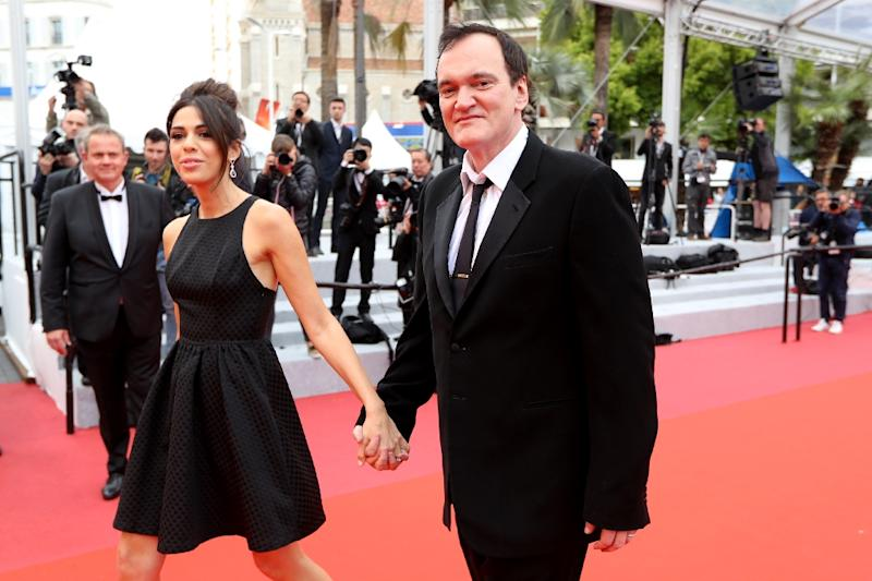 Quentin Tarantino, seen here with his Israeli wife Daniella Pick, was a high school drop-out who developed an encyclopedic knowledge of movies while working at a video store (AFP Photo/Valery HACHE)