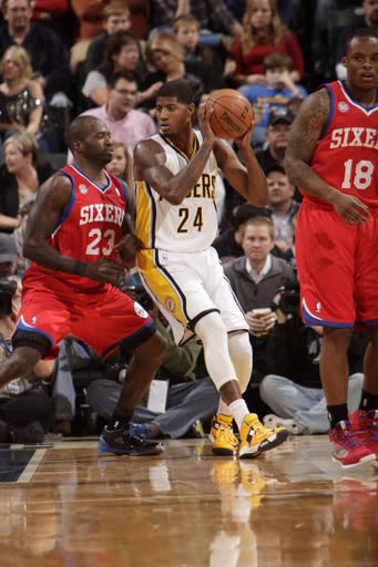 George, Hibbert, Hill lead Pacers past 76ers 95-85