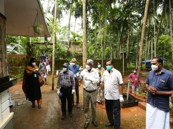 Central team visits Nipah victim's house in Kozhikode, collects sample of Rambutan (Photo/ANI)