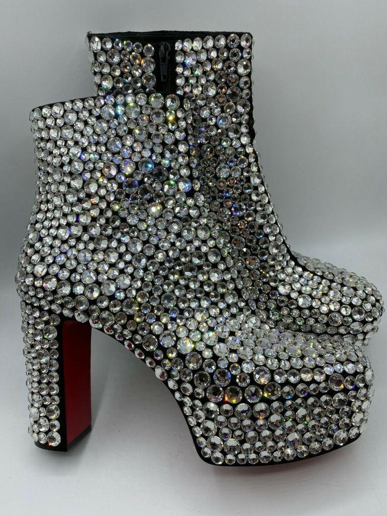 christian louboutin, louboutin, roxxy strass, red bottom, red sole