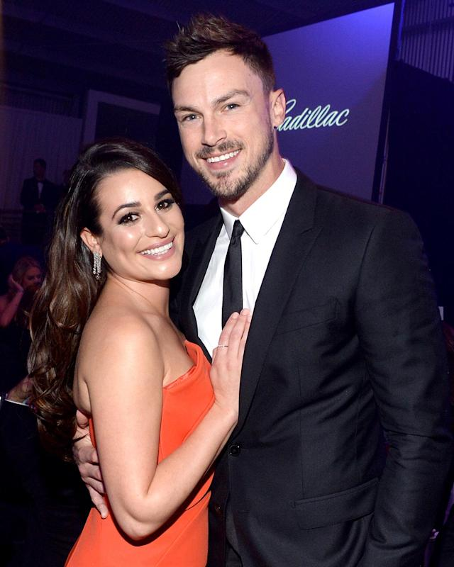 Lea Michele and Matthew Paetz in 2015. (Photo: Kevin Tachman/Getty Images for amfAR)