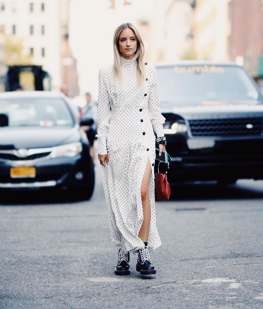 <p>Influencers were determined to bring back polka dots this season, with the retro print being a firm fave in Milan and London. <em>[Photo: The Fashion Guitar/ Instagram]</em> </p>