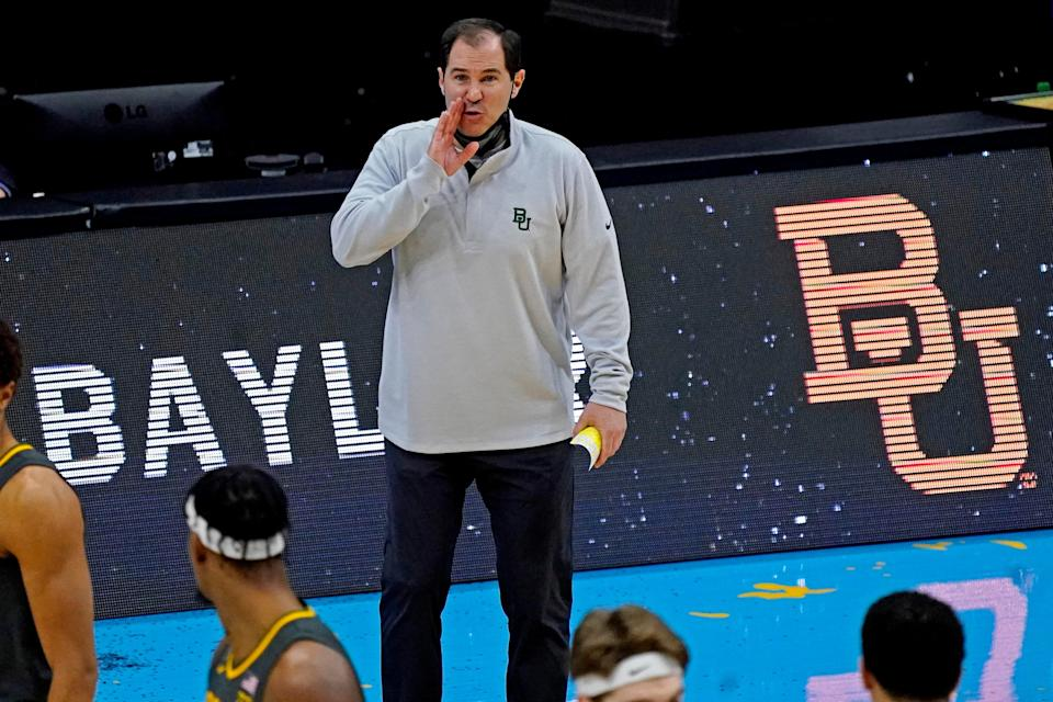 Baylor coach Scott Drew earned his first national title Monday.