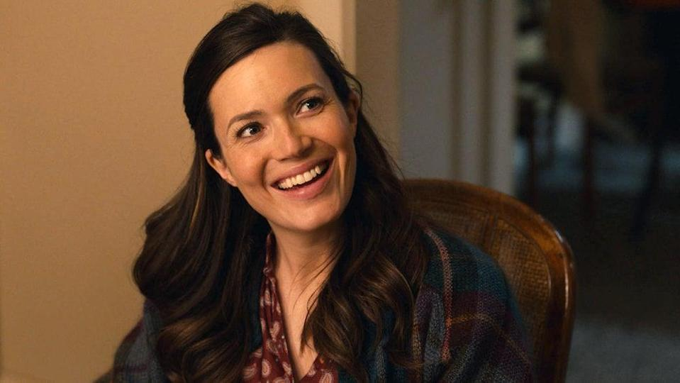 """<p>Moore has gotten to channel many different roles over the years, but it took playing Rebecca in <strong>This Is Us</strong> to find one that she could truly relate to. """"I get to live so many different iterations of the character just because I get to indulge in so many different timelines and chapters of her life,"""" she said. </p> <p>Rebecca's look when she was younger, which is supposed to take place in the '70s, is her personal favorite. """"She was way more experimental with green and blue eyeshadow and tons of fun accessories and things in her hair."""" </p> <p>The chapter when Rebecca is married and a mom is actually when Moore finds herself relating to her the most, not just with her beauty routine but the outlook on life in general. """"Beauty becomes less of a priority for her and so she pairs it down a little bit, so I feel like that closely aligns with my philosophy when it comes to beauty and how I like to present myself to the world.""""</p>"""