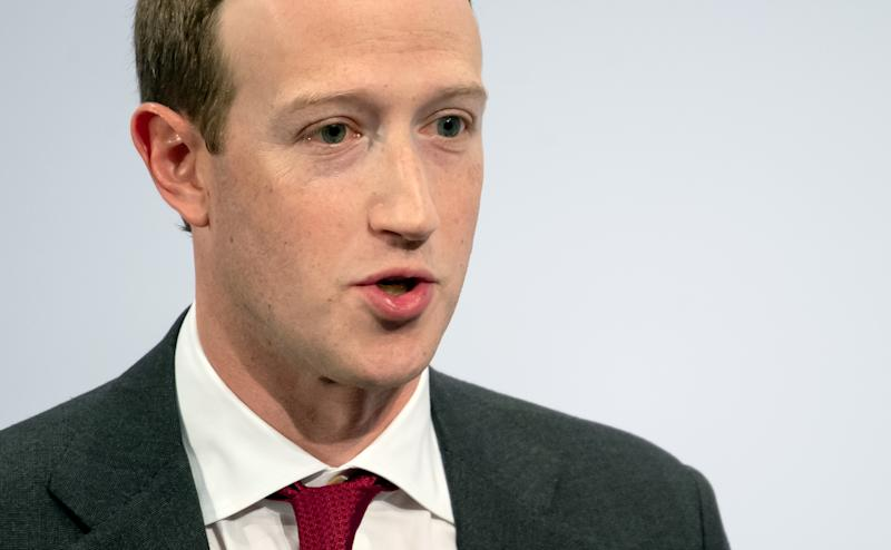 15 February 2020, Bavaria, Munich: Mark Zuckerberg, Chairman of Facebook, speaks at the 56th Munich Security Conference. Photo: Sven Hoppe/dpa (Photo by Sven Hoppe/picture alliance via Getty Images)