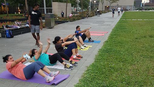 Outdoor Fitness and Online Exercise Classes in Singapore