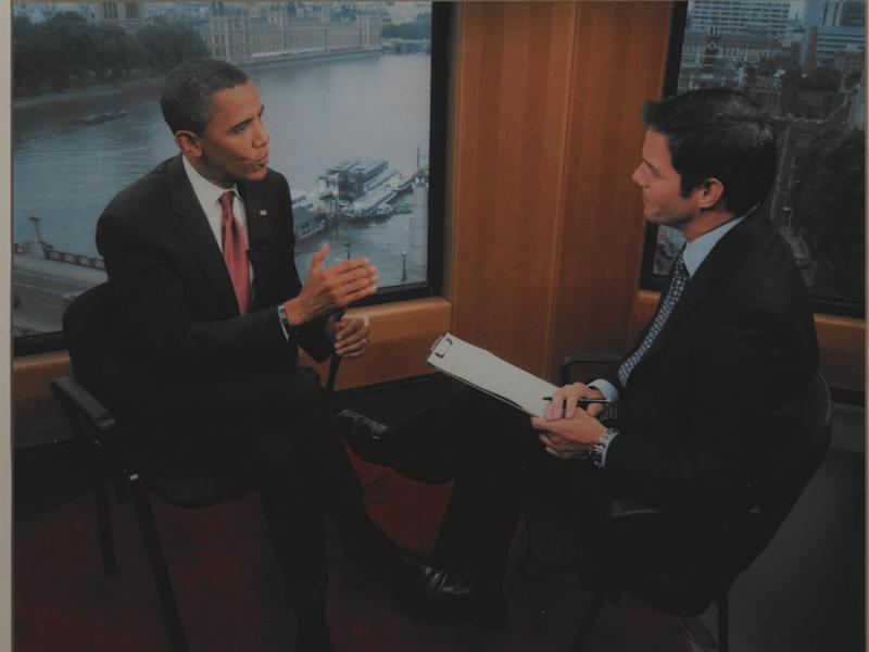 Bill Hemmer with former president Barack Obama.