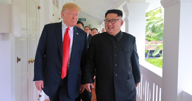 After months of nuclear gamesmanship, Donald Trumpand Kim Jong Unhad a friendly meeting in Singapore on June 12 — the first time a sitting U.S. president has met with North Korea'sleader.