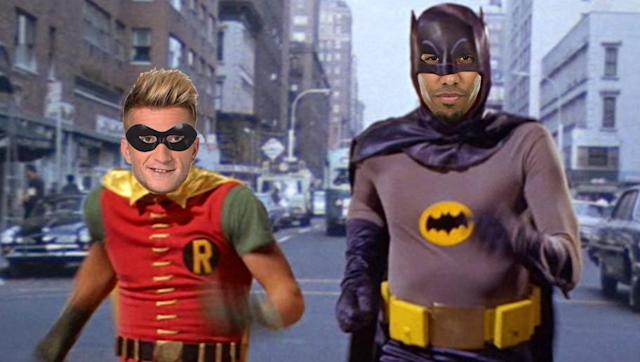 <p>Aubameyang and Reus started being referred to as Batman as Robin thanks to their classic celebration - you know the one. </p> <br><p>They also play completely in sync, just like the Caped Crusader and the Boy Wonder! Not sure how Reus feels about being Robin, but he only has himself to blame. </p>