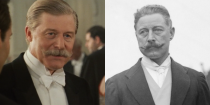 """<p>Played by Martin Jarvis, Cosmo Duff-Gordon was an Olympic silver medalist in fencing who survived the sinking. Like Bruce Ismay, he drew criticism for seeming to violate the """"women and children first"""" rule established by White Star crew. He died in 1931 at age 68. </p>"""