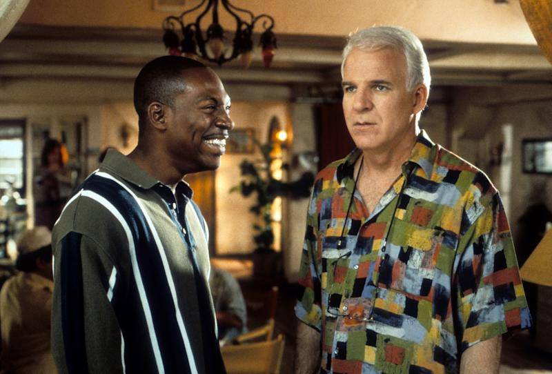 Eddie Murphy and Steve Martin in a scene from the film 'Bowfinger', 1999. (Photo by Universal Pictures/Getty Images)
