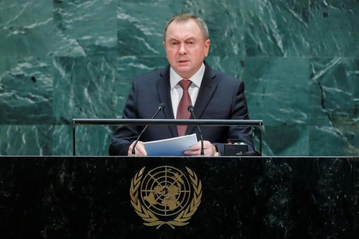 Belarus' Foreign Minister Makei addresses the 74th session of the United Nations General Assembly at U.N. headquarters in New York City, New York, U.S.