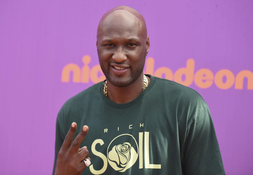 Lamar Odom at the Kids' Choice Sports Awards in Los Angeles in July. (AP)