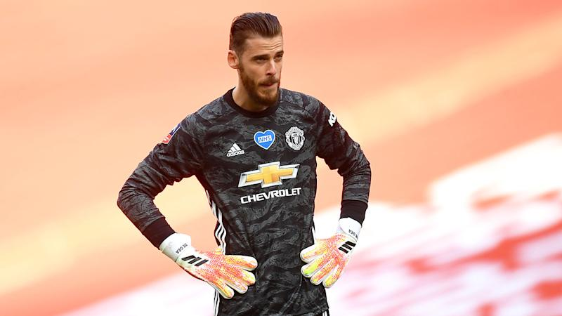 Pictured here, a dejected David de Gea in the FA Cup semi-final against Chelsea.
