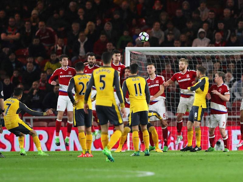 Alexis Sanchez strikes for Arsenal (Getty)