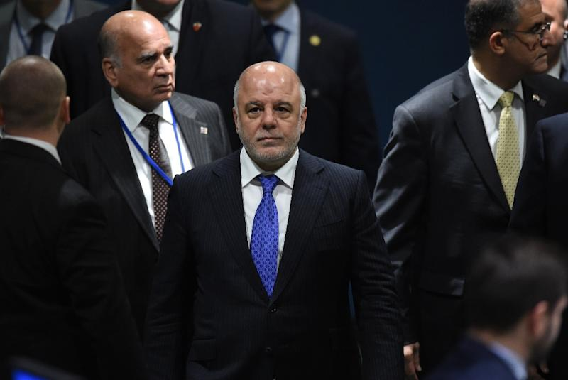 Haider al-Abadi, Prime Minister of Iraq, pictured at the United Nations in 2016, says  media outlets had been fed reports of bombings that never happened