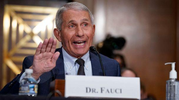 PHOTO: Top infectious disease expert Dr. Anthony Fauci responds to accusations by Sen. Rand Paul, R-Ky., as he testifies before the Senate Health, Education, Labor, and Pensions Committee, on Capitol Hill in Washington, Tuesday, July 20, 2021.  (J. Scott Applewhite/AP)