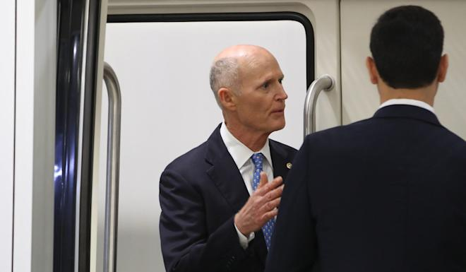 """US Senator Rick Scott said Carrie Lam """"wouldn't even answer basic questions about the rights of her people"""". Photo: AFP"""