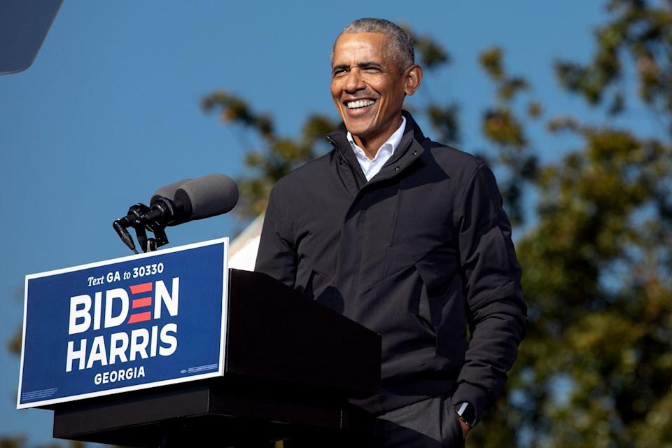 Barack Obama Speaks At Georgia Get Out The Vote Rally With Senate Candidates