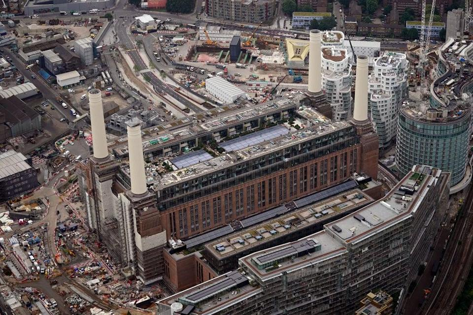 An aerial view of Battersea Power Station and the Nine Elms development (Victoria Jones/PA) (PA Wire)