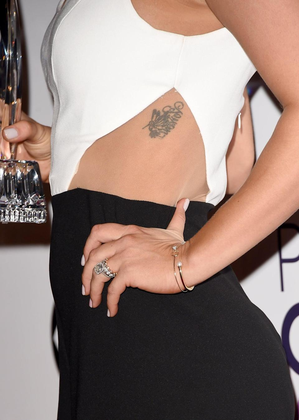 Kaley Cuoco's Bird Tattoo