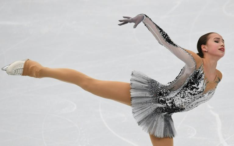Russia's Alina Zagitova performs in the ladies' short program at the ISU European Figure Skating Championships in Moscow on January 18, 2018