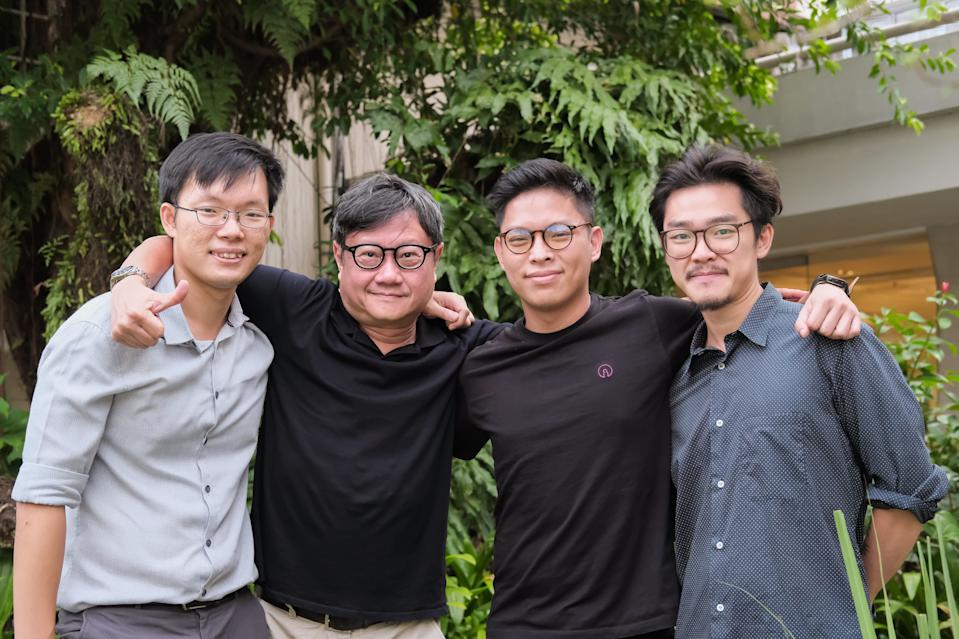 """The team that made """"Piece of Meat"""": (from left to right) co-director and animator Jerrold Chong, scriptwriter Eric Khoo, co-director Huang Junxiang, and animator Mark Wee. (Photo: Finding Pictures)"""
