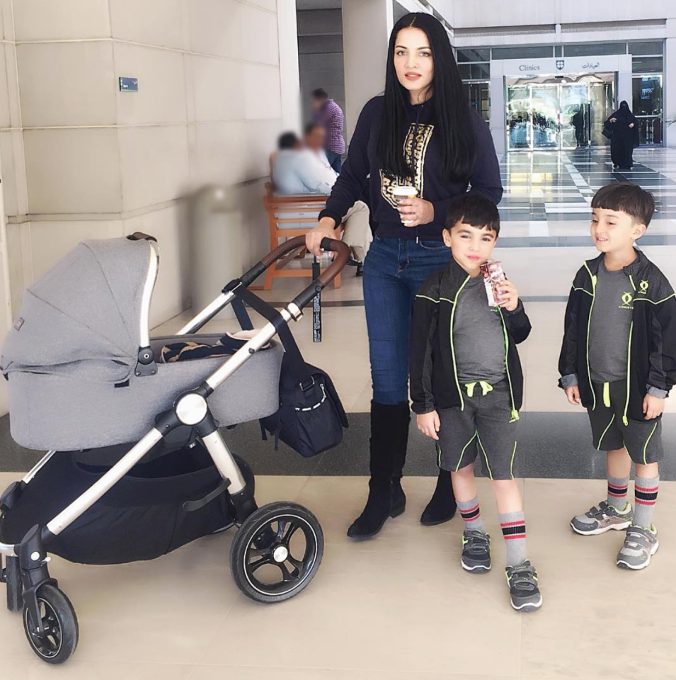 <p>Celina Jaitley<br />Arthur Jaitley Haag and Shamsher Jaitly Haag<br />10th September 2017<br />Sadly, one of the twins passed away a few weeks after birth.<br />(Photo from Celina Jaitley's Instagram handle) </p>