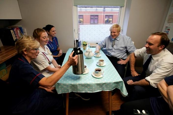 Boris Johnson has committed to increasing the National Health Service (NHS) budget by £33.9 billion by 2023-24 (AFP Photo/Christopher Furlong)