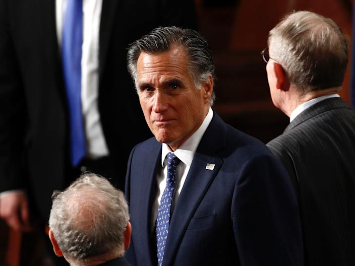 Sen. Mitt Romney on February 4, 2020.