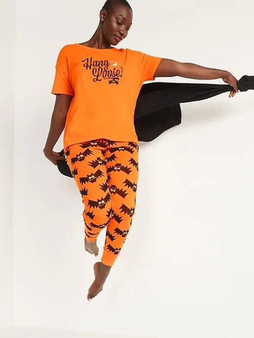 <p>You know you want a special pair of pajamas for every single holiday, like this <span>Old Navy Halloween Matching Graphic Pajama Set</span> ($40). It's perfect for greeting trick-or-treaters or when you have a horror movie marathon.</p>