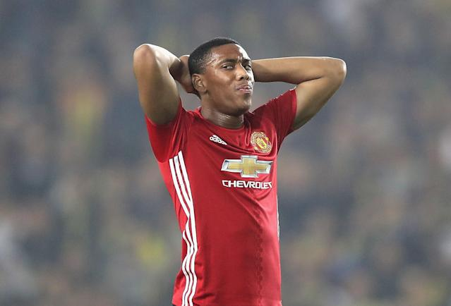 Anthony Martial has not featured much for Manchester United this season