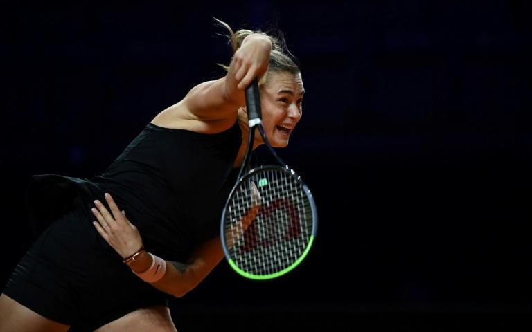 Aryna Sabalenka will face Barty in Sunday's final in Stuttgart after her straight sets win over Simona Halep