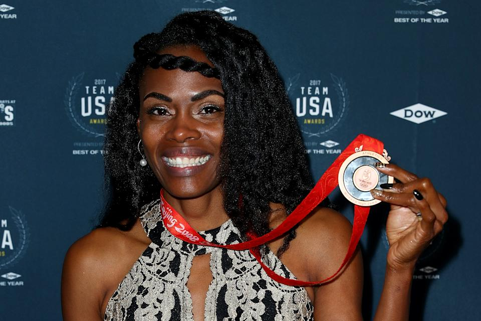 Chaunte Lowe won a bronze medal at the 2008 Olympic games and is now lending her voice to cancer screening awareness after her own ordeal. (Joe Scarnici/Getty Images)