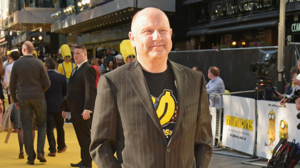"""Chris Meledandri attends the premiere of """"Minions"""" at Odeon Leicester Square on June 11, 2015. (Photo by David M. Benett/WireImage)"""