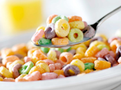 <p>We get it. Sometimes a bowl of cereal at bedtime is just the thing. But you're better off sticking with a low-sugar, high-fiber kind, like Cheerios or bran flakes. Sugary cereals digest rapidly in your system, so the spike in blood sugar could throw off some of your sleep hormones, and low-fiber diets are linked to lighter sleep. Your best bet might be to forgo the food and just get some z's — when you're not getting enough sleep, you're more apt to seek energy by eating more food (especially sugar).</p>