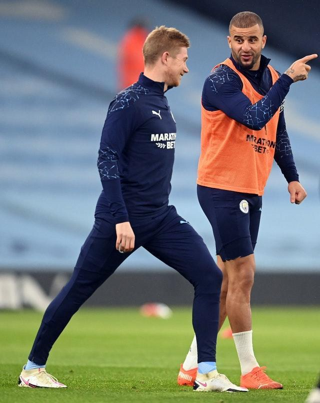 Kevin De Bruyne and Kyle Walker were among the players to sit out the game a Porto