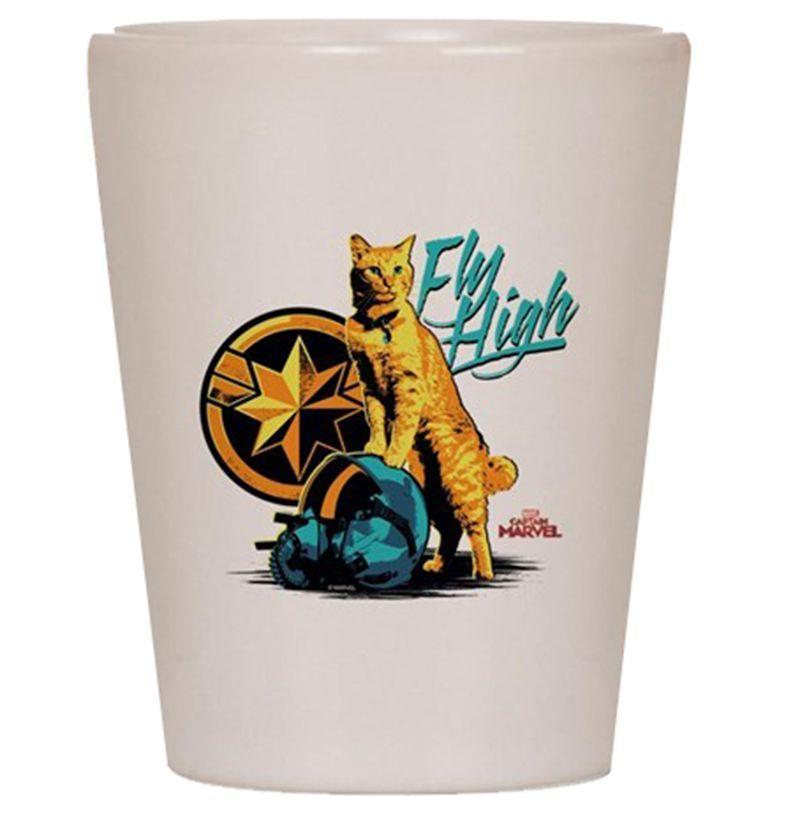 "<p><strong>Cafe Press</strong></p><p>cafepress.com</p><p><strong>$9.79</strong></p><p><a href=""https://www.cafepress.com/+goose_the_cat_captain_marvel_shot_glass,403113423"" rel=""nofollow noopener"" target=""_blank"" data-ylk=""slk:Buy"" class=""link rapid-noclick-resp"">Buy</a></p><p>So you can properly take a heroic shot of tequila with the full support of Goose.</p>"