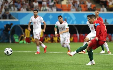 SARANSK, RUSSIA - JUNE 25: Cristiano Ronaldo of Portugal misses a penalty during the 2018 FIFA World Cup Russia group B match between Iran and Portugal at Mordovia Arena on June 25, 2018 in Saransk, Russia - Credit: Getty Images