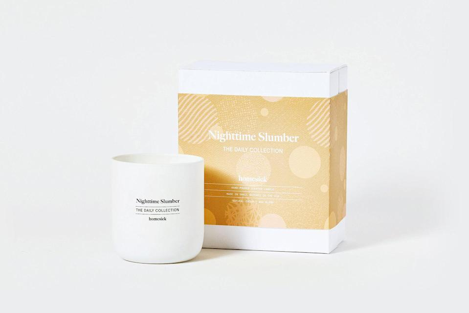 "<h3><a href=""https://homesick.com/"" rel=""nofollow noopener"" target=""_blank"" data-ylk=""slk:Homesick Candles"" class=""link rapid-noclick-resp"">Homesick Candles</a></h3><br><strong>Sale: </strong>Up to 45% off the retailer's <a href=""https://homesick.com/collections/warehouse-sale"" rel=""nofollow noopener"" target=""_blank"" data-ylk=""slk:warehouse sale"" class=""link rapid-noclick-resp"">warehouse sale</a><br><br><strong>Dates: </strong>Now - Limited time<br><br><strong>Promo Code: </strong>None<br><br><strong>Homesick Candles</strong> Nighttime Slumber, $, available at <a href=""https://go.skimresources.com/?id=30283X879131&url=https%3A%2F%2Fhomesick.com%2Fproducts%2Fnighttime-slumber"" rel=""nofollow noopener"" target=""_blank"" data-ylk=""slk:Homesick Candles"" class=""link rapid-noclick-resp"">Homesick Candles</a>"