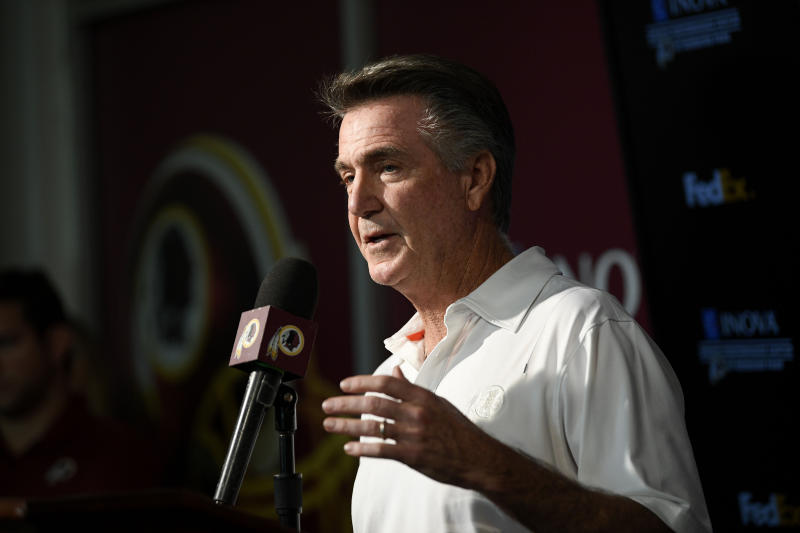 Washington team president Bruce Allen met with media on Monday. (AP)