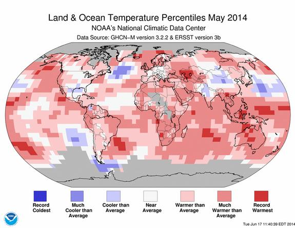 Highest Global Temps on Record for Month of May